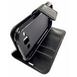 Capa Carteira Case Couro Preto Samsung Galaxy J1 Ace J110