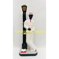 Escultura Zé Pilintra No Poste Imagem 50cm Estatua Umbanda
