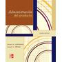 Administracion Del Producto 4ed - Lehmann Y Winer - Libro