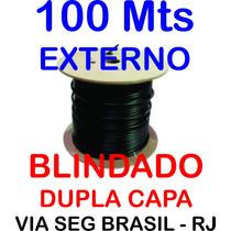 Cabo De Rede Blindado Cat5 100 Mts Dupla Capa