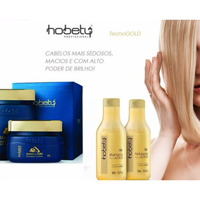 Kit Hobety Banho De Ouro Mascara 300gr Mais Kit Manutenção
