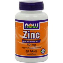 Now Foods Zinc Gluconate 50mg Tabletas 250