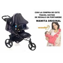 Coche Jogger Travel System Infanti P60 + Portabebe Wawita