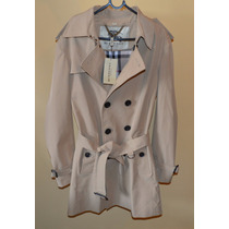 Burberry Trench Coat Masculino Corte Clássico Original