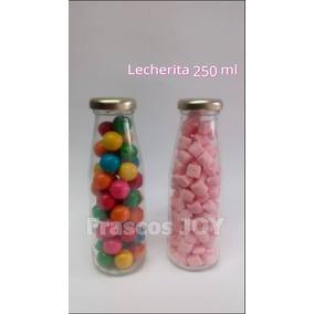Frascos De Vidrio Lecherita 250 Ml 60 Pz (envio Incluido)