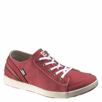 Tenis Caterpillar Color Vino Piel 23 Mex Resistente Original