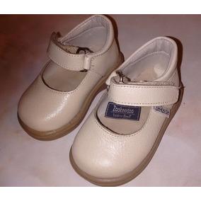 Guillermina Zapatos Niña 16 Toot Cuero Color Natural Envios
