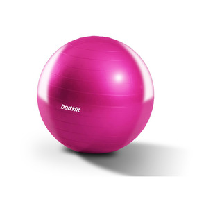 Pelota De Yoga Y Pilates 55 Cm Body Fit Rosa Con Bomba