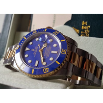 Relógio Máq. Eta Modelo Submariner Dial Azul Misto