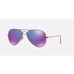 Oculos Rayban Original Aviador Rb3025 Purple Lançamento