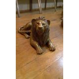 Escultura De Leão Em Madeira - Arte Em Madeira