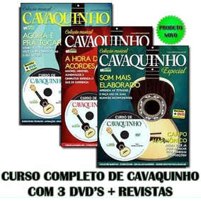 Curso De Cavaquinho Completo 3 Dvds + Revistas Video Aulas