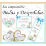 Kit Imprimible Bodas Y Despedida De Soltera Souvenirs Cards