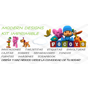 Kit Imprimible Pocoyo Adornos Invitaciones Recuerdos Y+