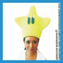 Sombrero Espuma Estrella Boda Xv Dj Fiesta Lente Peluca