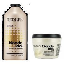 Kit Shampoo E Máscara Redken Blonde Idol Sulfate-free