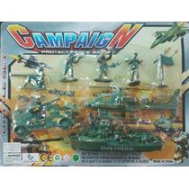 Brinquedo Barato Exercíto Soldadinhos Helicóptero Barco + Pe