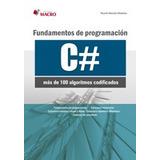 Fundamentos De Programación En C# Y C++ Paquete 2 Libros