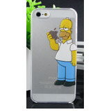 Case Funda Transparente De Homero Simpson Iphone 5 / 5s / Se