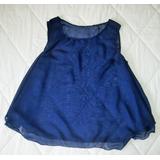 Blusa Camisa Materna Crop Tops De Chifon De Dama Talla L