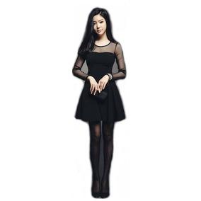 Mini Vestido Casual Corto Sexy Gotico Noche Fiesta Moderno