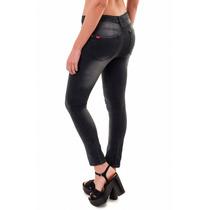 Jean Mujer Elastizado Chupín Gastado Y Con Rotura, T002-7