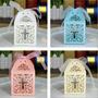 Cajas Caladas Para Velas Led Souvenir/bautismo/ Comunion