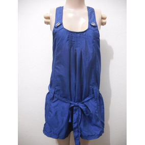 Vestido Curto Tafeta Azul Tam P 36 Chocoleite Bom Estado