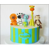 Torta Cumpleaños Infantil Animales, Mesas Dulces, Etc