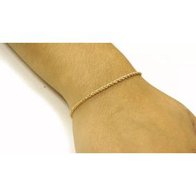 Pulseira Corda 17cm Ouro 18k - 750 Pc100