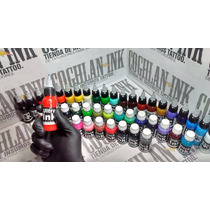 Set Tattoo Ultra Ink 10 Tintas X 1oz = 10 Oz Tatuajes Tatuar