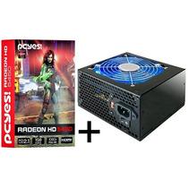 Placa De Vídeo Radeon Hd5450 1gb 64bits Hdmi + Fonte 420w
