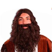 Disfraz Peluca Pelo Largo Y Barba Cotillon Fiestaclub