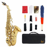 Saxofon Soprano Lade Curvo + Estuche + Accesorios Nuev Barat