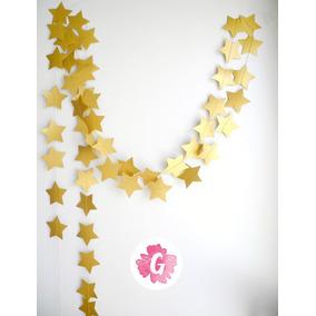 Guirnalda Circulo Estrella Corazon Dorada Plateadas Cobre