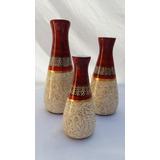 Trio De Vasos Decoração De Casa Sala Presente Enfeite