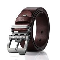 Los Hombres Cuero Moda Original Cintura Ancho Cinturón
