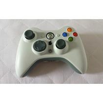 Controle Manete Xbox 360 Branco Wireless Original Microsoft