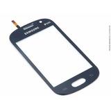 Tela Lente Touch Samsung S6810 S6812 Galaxy Fame Azul