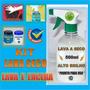 Kit Lavagem A Seco Silicone Pretinho Micro Fibra Limpa Vidro