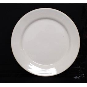 100 Prato Branco Raso 25,5 Cm Cerâmica P/restaurantes,buffet