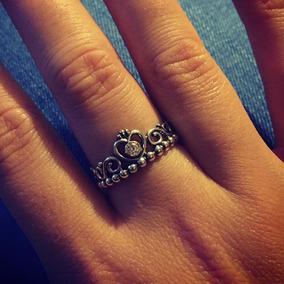 2 Anel Prata 925 Estilo Pandora Coroa + Aliança Coração