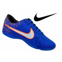 Nova Chuteira Nike Salão Tiempo Couro Sintetico Fot Orig T1*