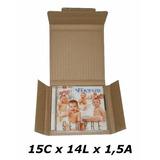 50 Caixa De Papelão 15 X 14 X 01 P/ 01 Cd Correio Pac Sedex.