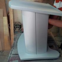 Atril Podium Pulpito Madera Aluminio Escritorio