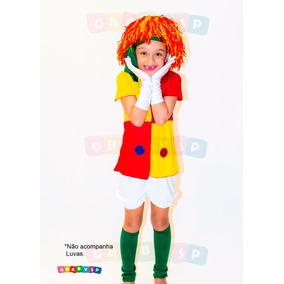 Fantasia Emilia Boneca Pano Sitio Pica Pau Amarelo Infantil