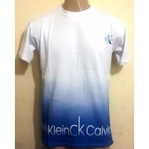 Kit 10 Camisetas Camisas Masculina Degrade Marca Tecido 100%