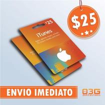 Turbine Seu Ipod/iphone! Itunes Gift Card De 25 Dólares Usa