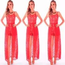 Tres Vestidos De Renda Longo Madrinha Atacado Moda Festa