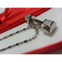 Dije Mancuerna En Acero Quirurgico 316l +cadena + Caja